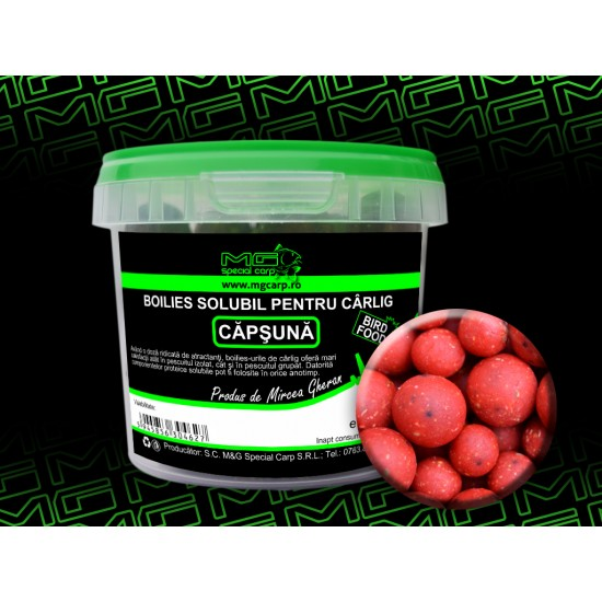 Boilies solubil carlig 200g  birdfood MG Special Carp Capsuna