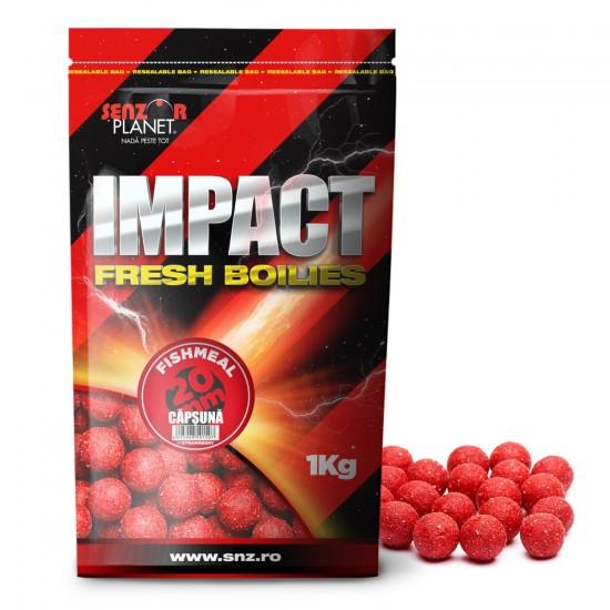 Boilies 20mm 1kg Senzor Planet Capsuna