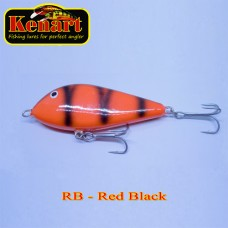 Bass Jerk 9cm 24gr Red Black