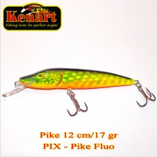 Pike 12cm 17gr floating-pike fluo